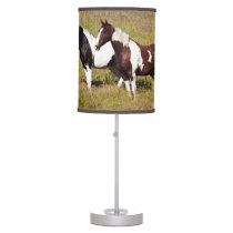 Horses on the hillside table lamp