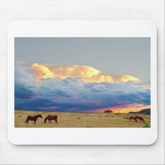 Horses On The Storm Mouse Pad