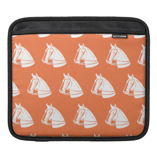 Horses orange white sleeves for iPads