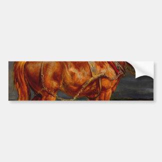 horses paintings oil bumper sticker