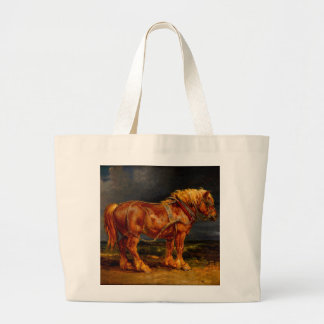 horses paintings oil large tote bag