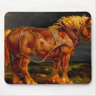horses paintings oil mouse pad