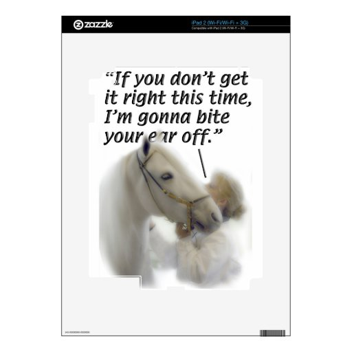 Horses - Paso Fino - Bite your ear Decal For The iPad 2
