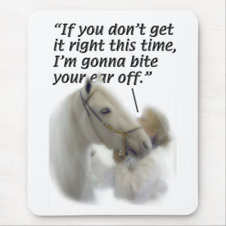 Horses - Paso Fino - Bite your ear Mouse Pad