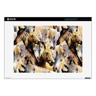 Horses pattern decal for laptop