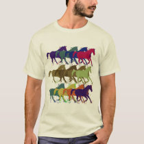 horses pattern, farm animals T-Shirt