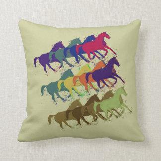 horses pattern farm style decor throw pillow