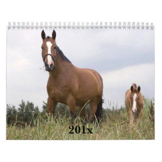 Horses Personalized Calendar