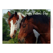 Horses Photograph Happy Father's Day Card