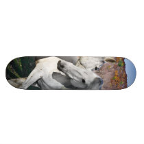 Horses Play Vermont Fall Skateboard Deck