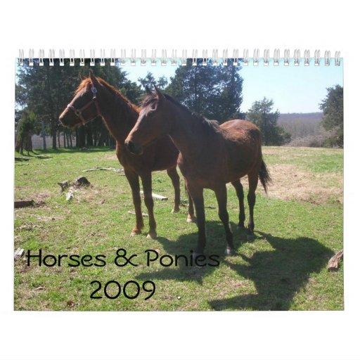 Horses & Ponies Calendar