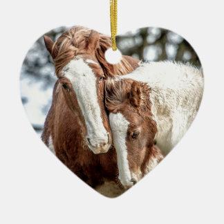 Horses/Ponies Ceramic Ornament