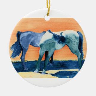 Horses, Pony Express Ceramic Ornament