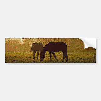 Horses Pop Art Bumper Sticker