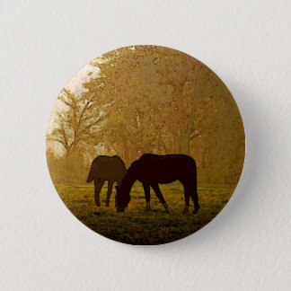 Horses Pop Art Button