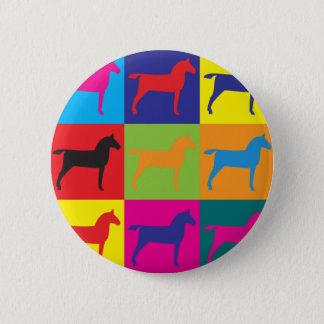 Horses Pop Art Button