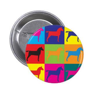 Horses Pop Art Buttons