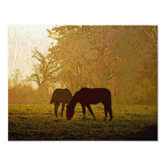 Horses Pop Art Card