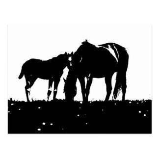 Horses Pop Art Postcard