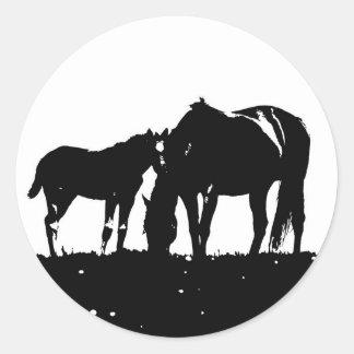 Horses Pop Art Sticker