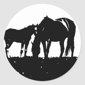 Horses Pop Art Stickers