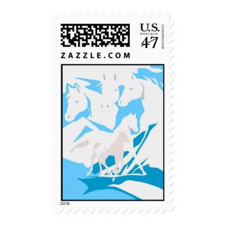 Horses Postage Stamp