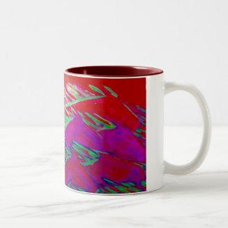 horses purple Two-Tone coffee mug