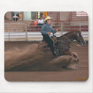 Horses - RCH - Reining horse slide Mouse Pad