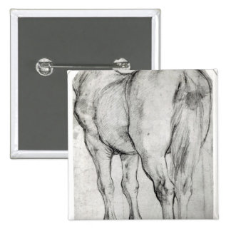 Horse's Rear 2 Inch Square Button