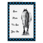 HORSE'S REAR: HATE TO SEE YOU GO: ARTWORK CARDS