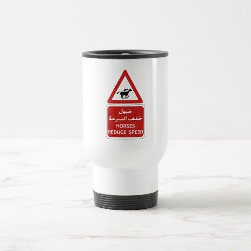 Horses Reduce Speed, Traffic Sign, UAE Coffee Mugs