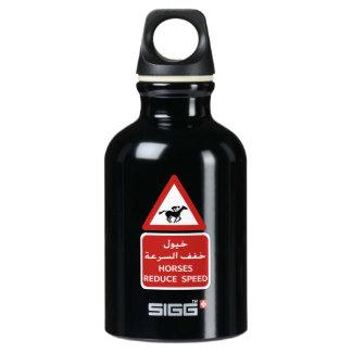 Horses Reduce Speed, Traffic Sign, UAE Water Bottle