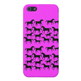 Horses repeating pattern Silhouette iPhone 5/5S Cover