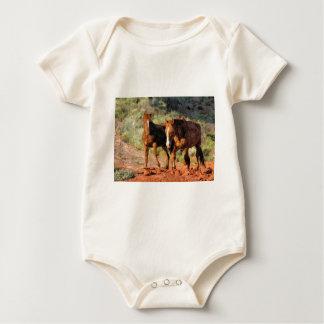Horses roaming in Monument Valley, UT Baby Bodysuit