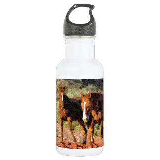 Horses roaming in Monument Valley, UT 18oz Water Bottle