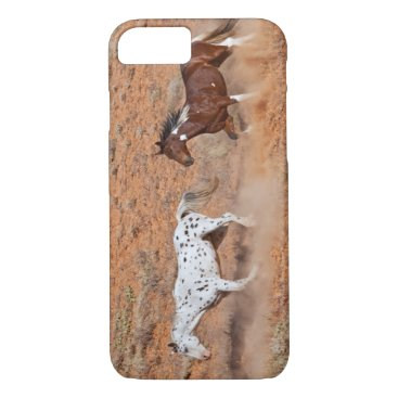 USA Themed Horses roaming the Big Horn MT of Shell Wyoming. 2 iPhone 8/7 Case