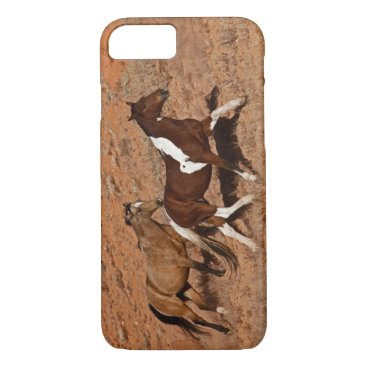 USA Themed Horses roaming the Big Horn MT of Shell Wyoming. iPhone 7 Case
