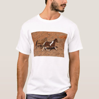 Horses roaming the Big Horn MT of Shell Wyoming. T-Shirt