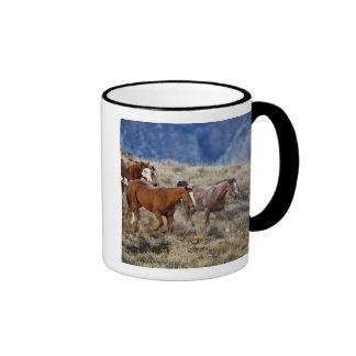 Horses roaming the scenic hills of the Big Horn 2 Coffee Mug