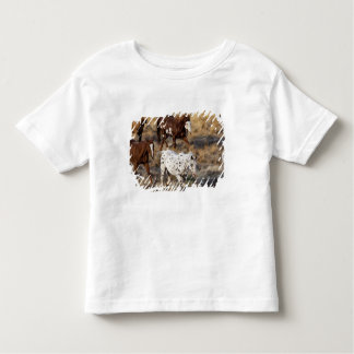 Horses roaming the scenic hills of the Big Horn Toddler T-shirt