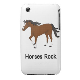 Horses Rock (bay) iPhone 3 Case-Mate Cases