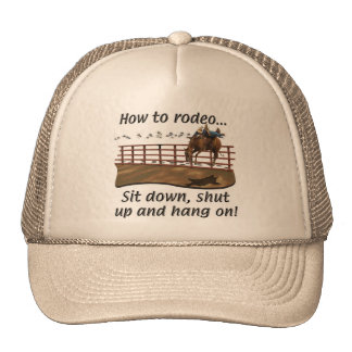 Horses, Rodeo, How to Rodeo Trucker Hat