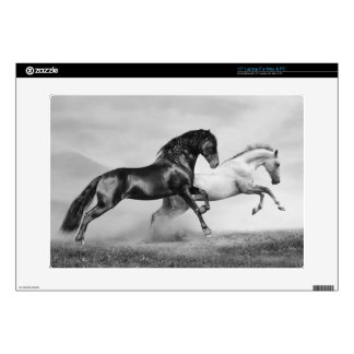 "Horses Run Decal For 15"" Laptop"