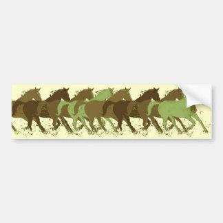 horses running bumper sticker