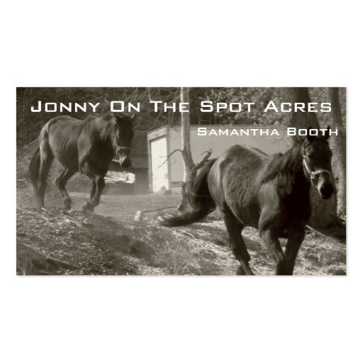 horses running business card templates