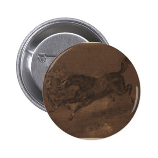 Horses running by Eugene Delacroix Pinback Button