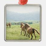 Horses running christmas ornaments