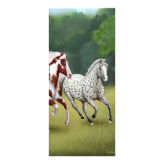 Horses Running Free Bookmark Custom Rack Card