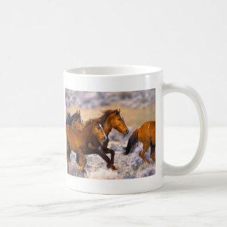 Horses running classic white coffee mug
