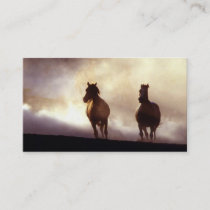 Horses Running On The Hill Business Card